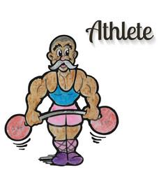 cartoon weight lifter athlete vector image