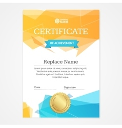 Certificate Vertical Template vector