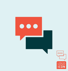 Chat message icon - speech bubble symbol vector