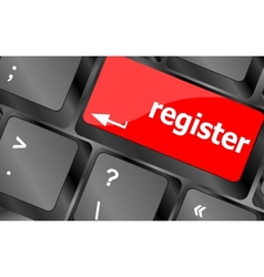 Closeup of register key in a modern keyboard vector image