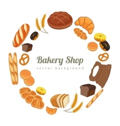 Collection of pastry or bakery items isolated on vector