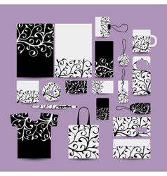 Corporate business style Floral design vector image