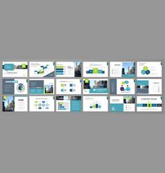 corporate slideshow templates vector image