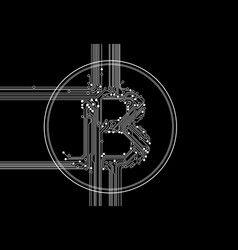 cryptocurrency blockchain - crypto currency vector image