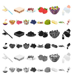 dessert fragrant cartoon icons in set collection vector image