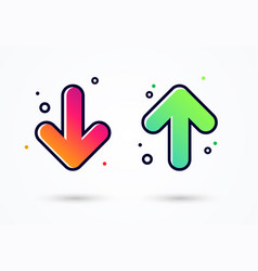Down and up arrow icon - user experience feedback vector