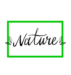 Eco product label lettering style-16 vector