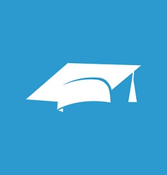 Education icon white on the blue background vector