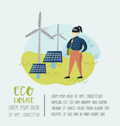 environmental conservation eco alternative energy vector image