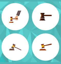flat icon court set of court crime government vector image