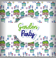 Garden party pattern background vector