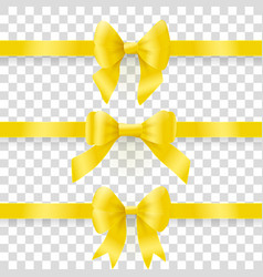 gold bows vector image