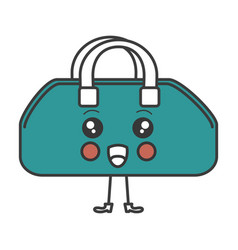 gym bag kawaii character vector image