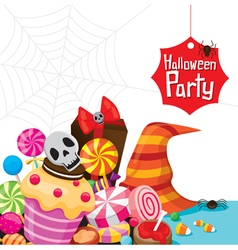 Halloween Dessert and Candy vector