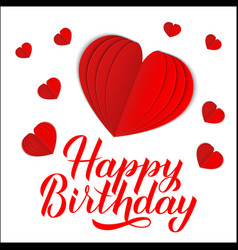 happy birthday calligraphy lettering with 3d vector image