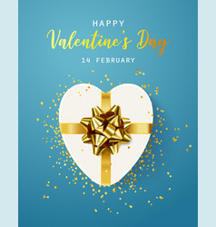 happy valentines day flyer poster greeting card vector image