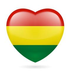 Heart icon of Bolivia vector