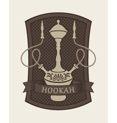 Hookah sign vector
