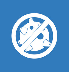 Icon no satellites vector