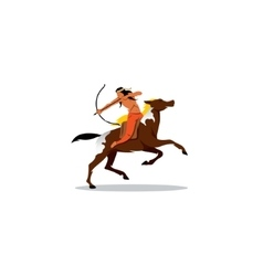 Indian archery riding a horse vector image