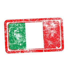 italy flag red grunge rubber stamp vector image