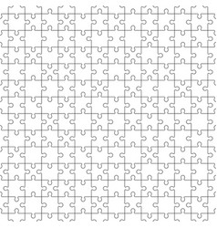 Jigsaw seamless pattern with white puzzle pieces vector