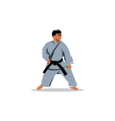 Karate sign vector