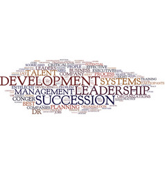 Leadership development secure the future text vector