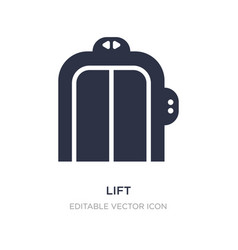 Lift icon on white background simple element from vector