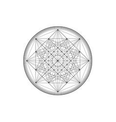 Line drawing mandala sacred geometry logo design vector