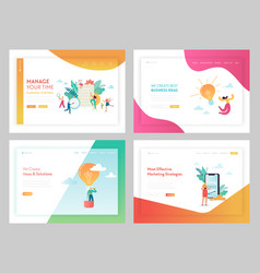 marketing strategy business solutions landing page vector image