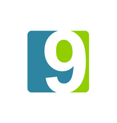 modern logo number 9 vector image