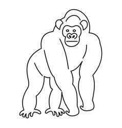 Monkey icon outline vector