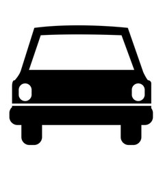 Monochrome silhouette of automobile front vector