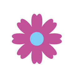 Natural flower spa icon vector