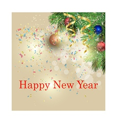 New year greeting card Light background vector image