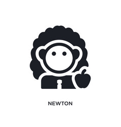 Newton isolated icon simple element from science vector