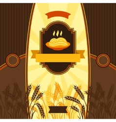 Package design for wheat pasta vector
