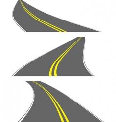 Perspective roads vector
