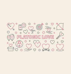 platonic love concept in thin vector image