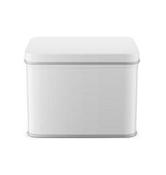 rectangular glossy tin can template vector image
