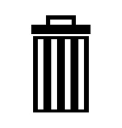 recycle bin delete icon vector image