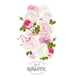 Romantic garden composition vector