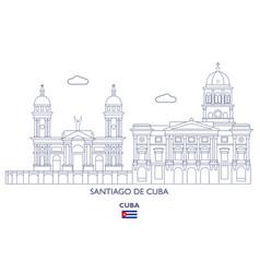 Santiago de cuba city skyline vector