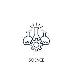 science concept line icon simple element vector image