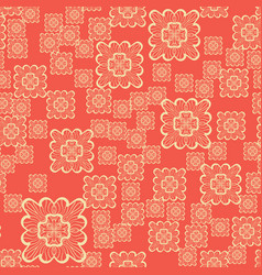 seamless geometric pattern with ornamental squares vector image