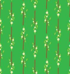 Seamless pattern with a branch of flowers vector image