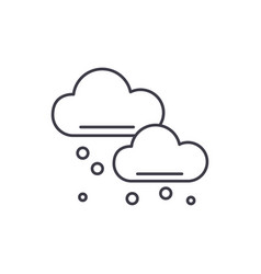 snow clouds line icon concept snow clouds vector image