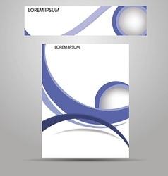 Stylish layout corporate identity vector