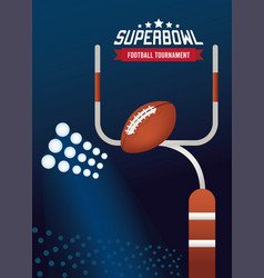 Super bowl championship lettering in poster with vector